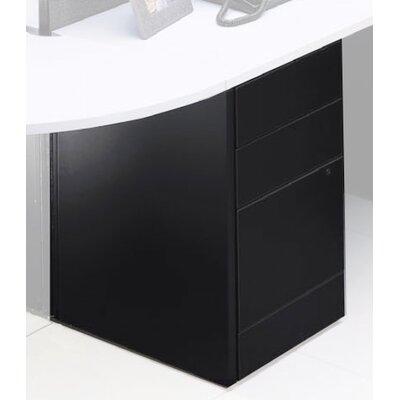 Adaptabilities 3-Drawer Freestanding File Pedestal Finish: Black