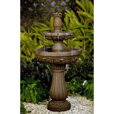 Resin/Fiberglass Classic Pineapple Water Fountain