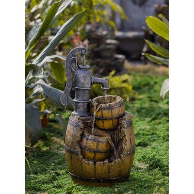 Resin/Fiberglass Water Pump and Pot Water Fountain