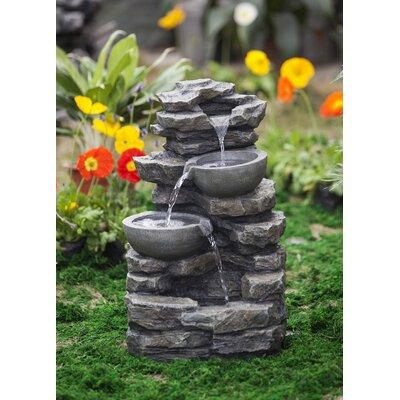 Resin/Fiberglass Rock and Pot Waterfall Water Fountain