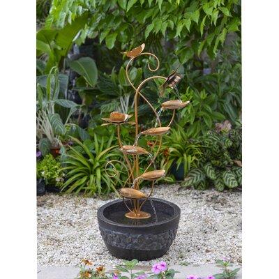 Resin/Fiberglass Multi Tier Leaves Fountain