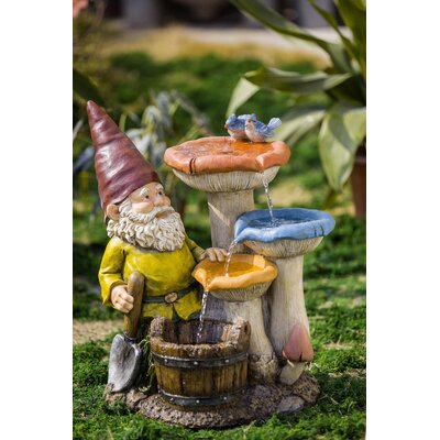 Resin/Fiberglass Gnome Garden Fountain