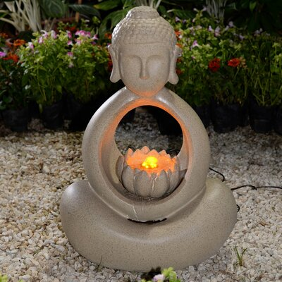 Resin/Fiberglass Buddha Fountain with LED Light