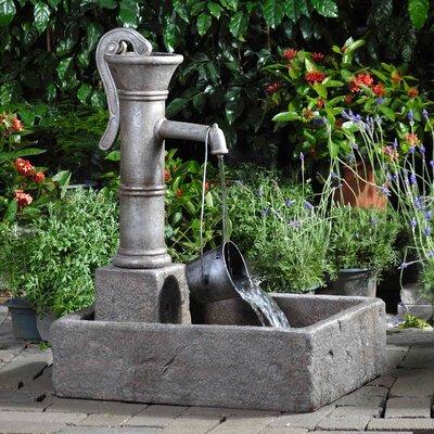 Resin/Fiberglass Large Water Pump Fountain