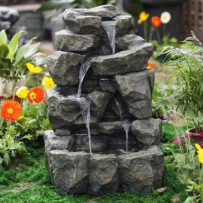 Resin/Fiberglass Rock Waterfall Water Fountain