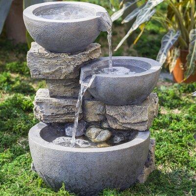 Resin/Fiberglass Rock and Pot Water Fountain