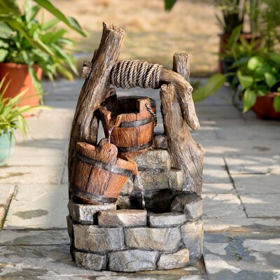 Resin/Fiberglass Tree Trunk and Pots Water Fountain