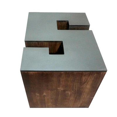 Letter-shaped (S) Wooden Accent Stool
