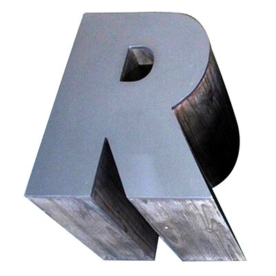 Letter-shaped (R) Wooden Accent Stool