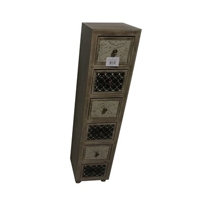 Lori Wooden 6 Drawer Accent Chest