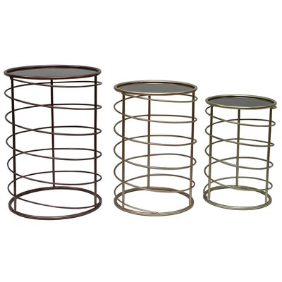 Karolyn 3 Piece Mirror Nesting Plant Stand Set