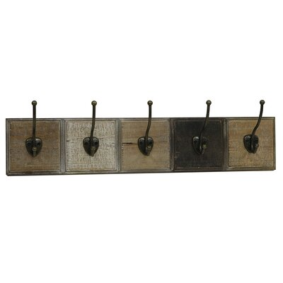 Alisier Wood Wall Hanging Coat Rack