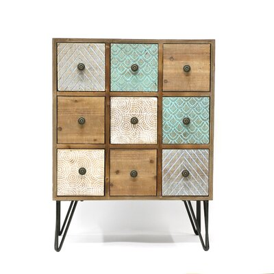 Crabb Wood 9 Drawers Accent Chest