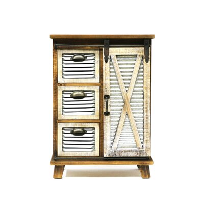 Maliana 3 Drawers and 1 Door Accent Cabinet