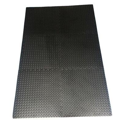 Multipurpose Anti-Fatigue EVA Foam Puzzle Floor Mat Color: Black