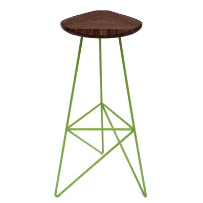 "Acute 30"" Bar Stool Color: Chocolate, Leg Color: Apple - Green"