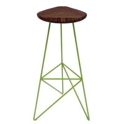 """Acute 30"""" Bar Stool Color: Chocolate, Leg Color: Apple - Green"""