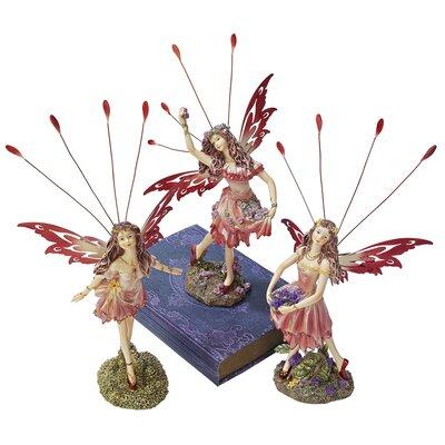 Design Toscano 3 Piece Crosstweed Meadow Fairy Figurine Set
