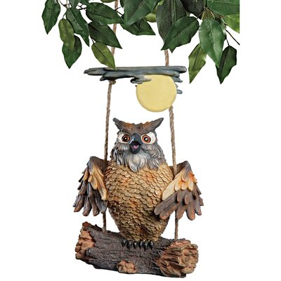 Design Toscano Statue Howie the Hoot Owl Swinging