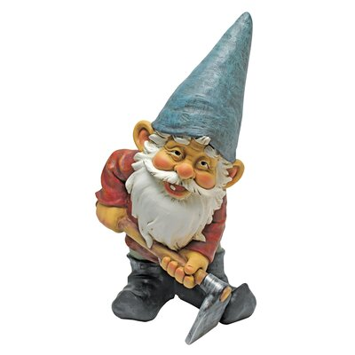 Design Toscano Statue Gnome with a Hoe