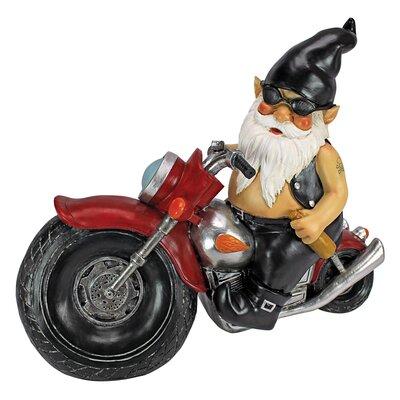 Design Toscano Biker Gnome in Leather Figurine