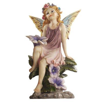 Design Toscano Statue Fairy Dust Twins Flower
