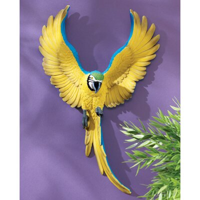 Design Toscano Phineas, the Flapping Macaw Wall Decor