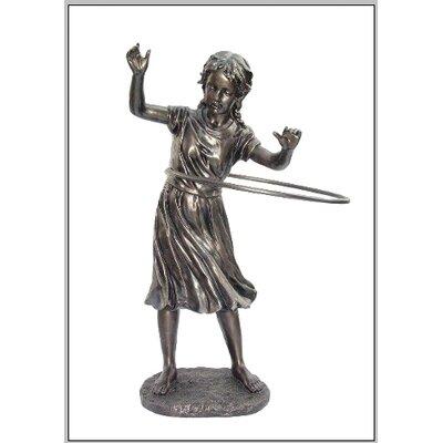 Design Toscano Statue Girl Hula Hopping