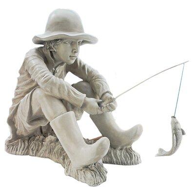 Design Toscano Statue Gone Fishing Fisherman
