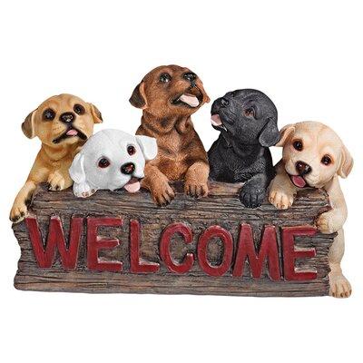 Design Toscano Welcome Dogs Garden Sign