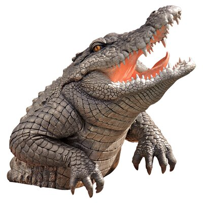 Design Toscano Statue Snapping Swamp Gator