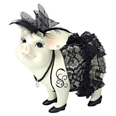 Design Toscano Lace and Lard Madame Pig Statue