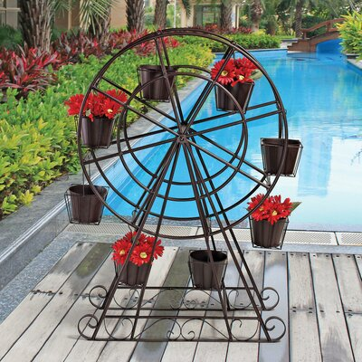 Design Toscano Garden Division Ferris Wheel Plant Holder