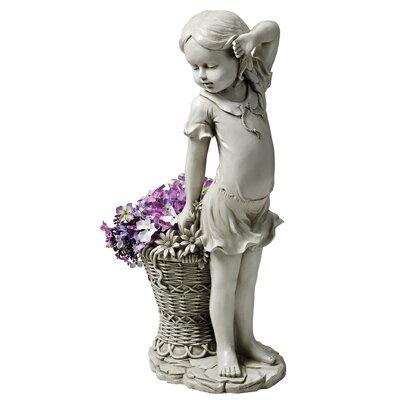 Design Toscano Garden Division Frances the Flower Girl Statue