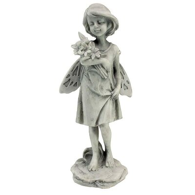 Design Toscano Rose Garden Fairy with Flowers Statue
