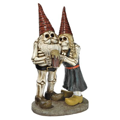 Design Toscano Statue Bones and Brew Skeleton Gnomes