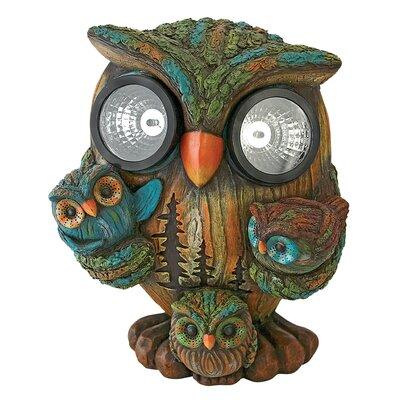 Design Toscano Statue Bright Eyes Owl Family Solar
