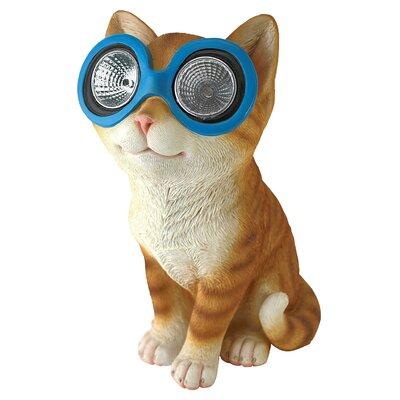 Design Toscano Statue Bright Eyes Solar Cat