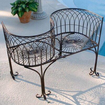 Design Toscano Garden Division 2 Seater Steel Love Seat