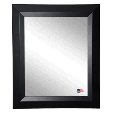 Rayne Mirrors Ava Contemporary Matte Black Wall Mirror