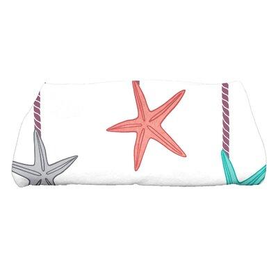 Coastal Christmas Starfish Ornaments Bath Towel Color: Purple