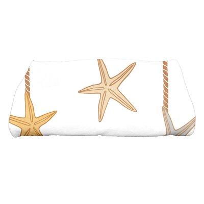 Coastal Christmas Starfish Ornaments Bath Towel Color: Gold