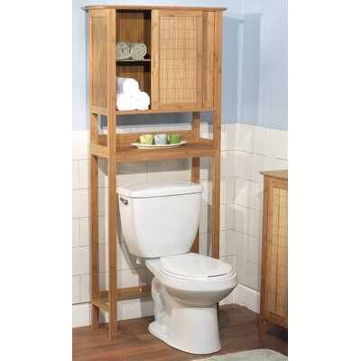 """TMS Bamboo 27.56"""" x 66.8"""" Free Standing Over the Toilet"""