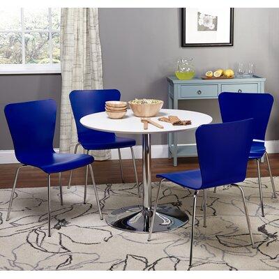 Theotis 5 Piece Dining Set Chair Color: Blue