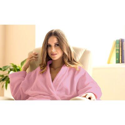 Spa Bathrobe Size: Large, Color: Pink