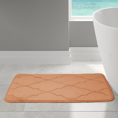 "Edwin Bath Rug Size: 21"" W x 34"" L, Color: Coral"