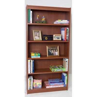 """Essentials Laminate Series Standard Bookcase Size: 30"""" H x 36"""" W x 12"""" D, Finish: Medium Oak"""