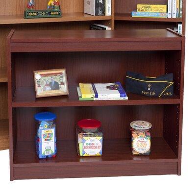 "Essentials Laminate Series Standard Bookcase Size: 30"" H x 36"" W x 12"" D, Finish: Mahogany"