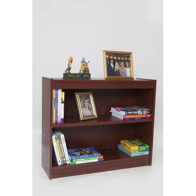 "Contemporary Series Standard Bookcase Size: 30"" H x 36"" W x 12"" D, Finish: Mahogany"