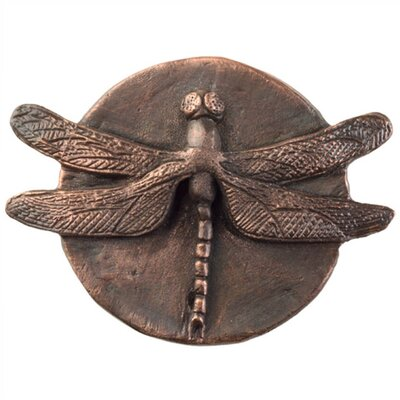 Dragonfly Grid Bathroom Sink Drain Finish: Weathered Copper, Overflow: Yes